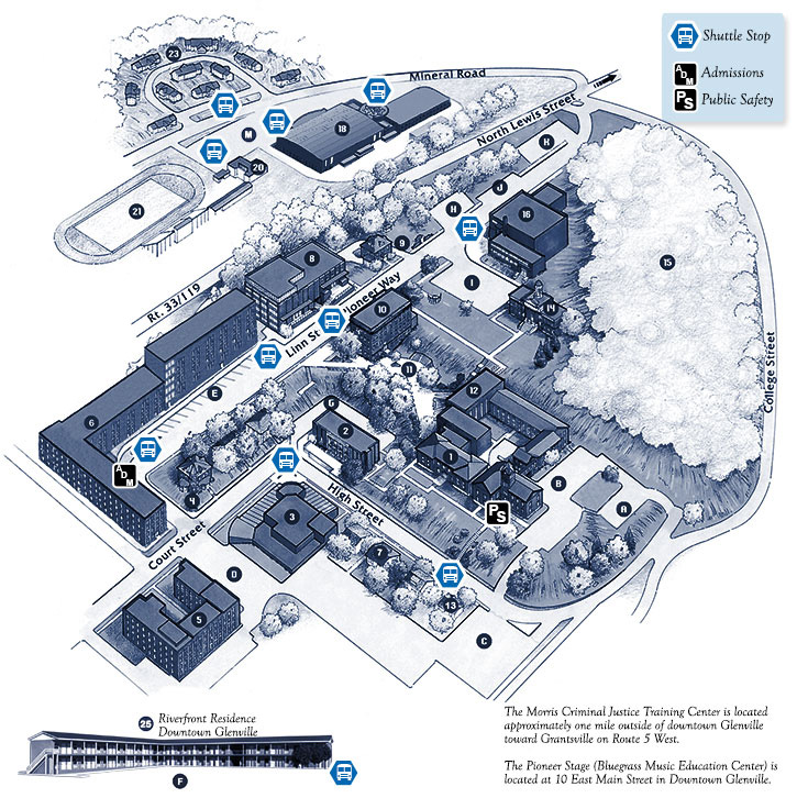 Campus Map Glenville State College