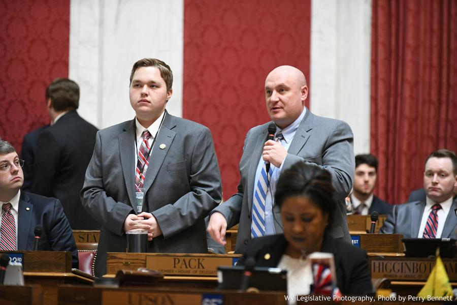 GSC sophomore Jacob Coots (left) is recognized by Delegate Jeffrey Pack (R-Raleigh, 28) | Photo by Perry Bennett