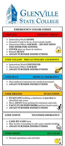 Emergency Code Colors for GSC