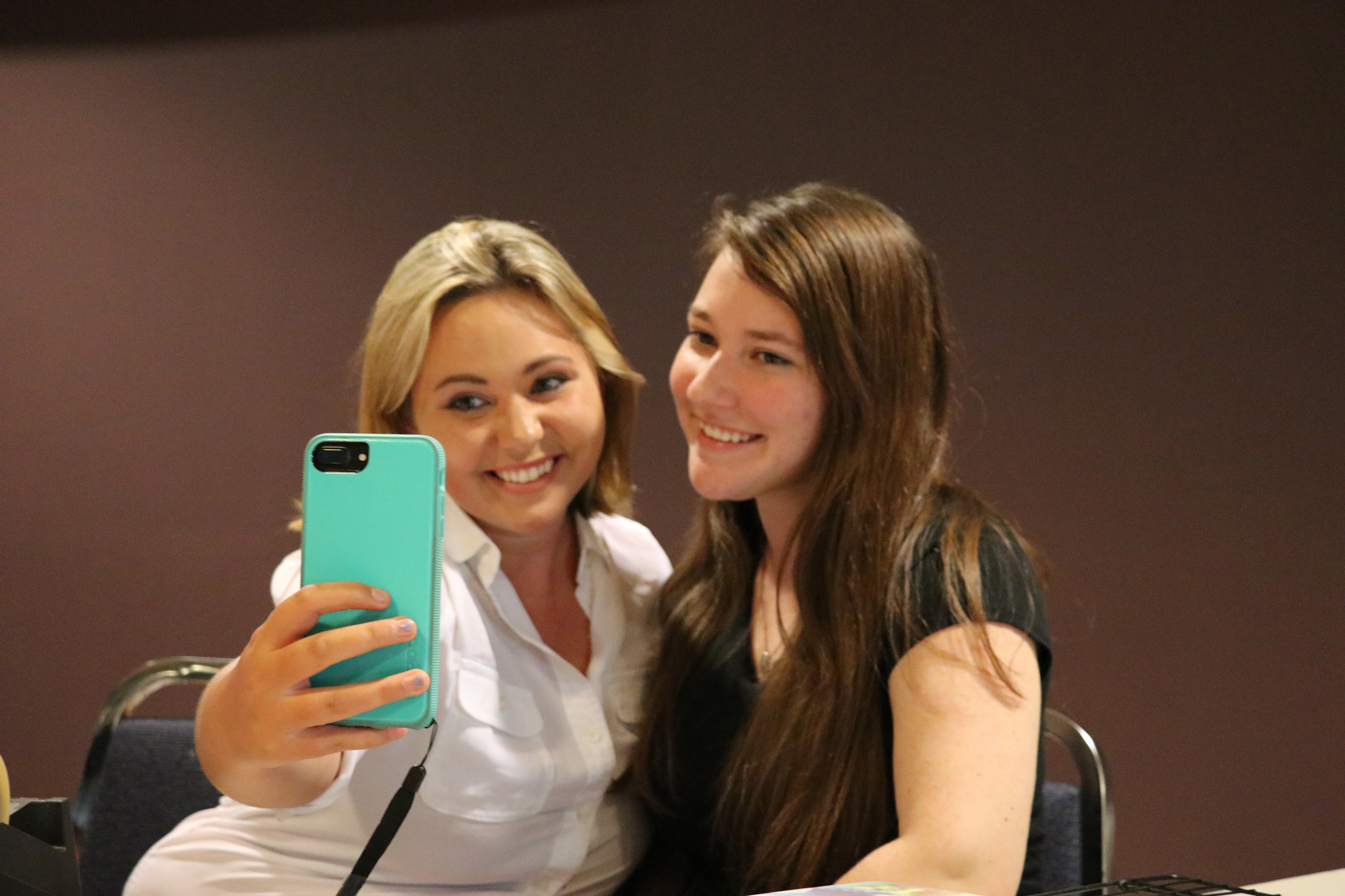 Two students taking a selfie