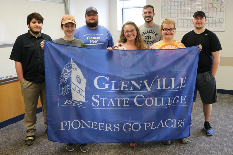 (l-r) Tropical Ecology students Logan Hays, Kayla Hall, Justin Woods, Janeeva Jenkins, AJ Howard, Autumn Jones, and Colton Ring who will travel to Panama this summer (not pictured Dr. Jeremy Keene and Daniel Reid)