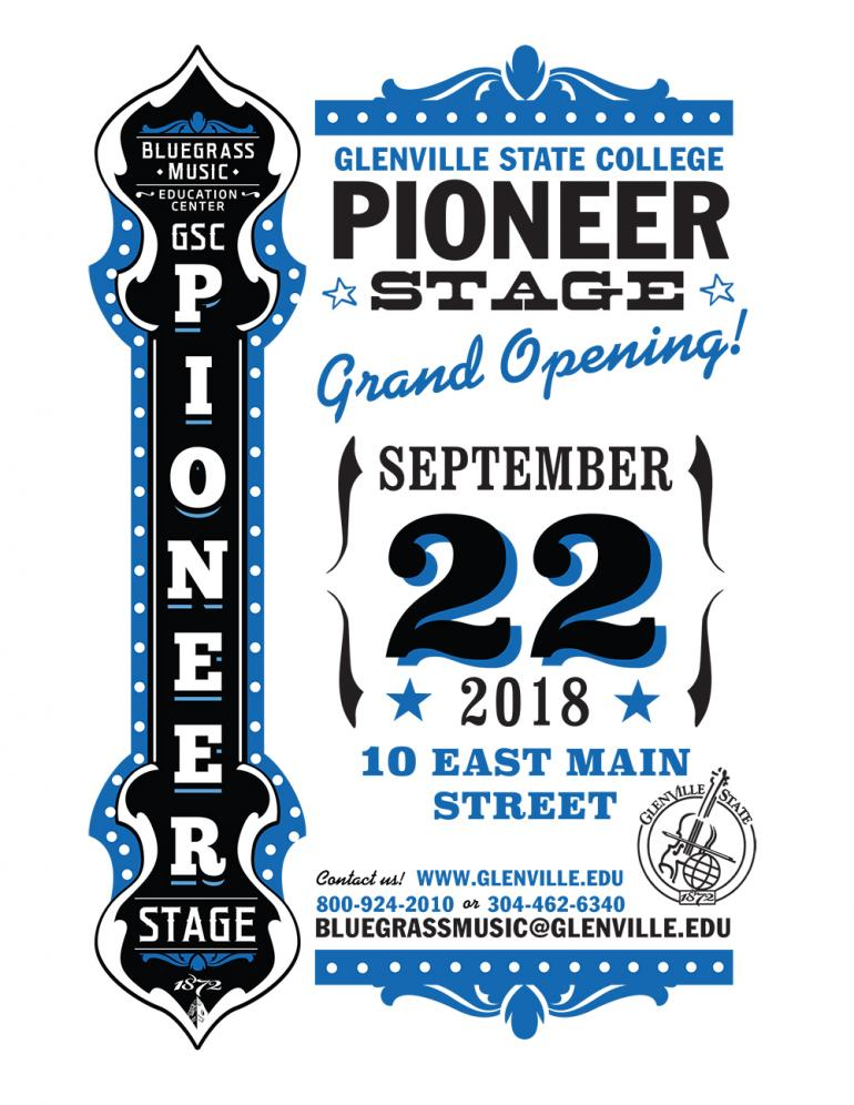 Pioneer Stage Grand Opening Flyer