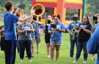 Evan Merical conducts the GSC Marching Band during last year's Band Bash held at the Glenville Presbyterian Church
