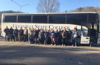 SPBGMA trip attendees pause for a photo in front of the GSC bus before resuming their trip to Nashville, TN last year