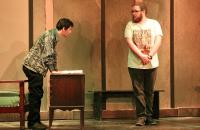 Doctor Faustus (Andrew Mattox) and Wagner (Robert Knicely) during a recent rehearsal