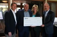 (l-r) Dominion Energy West Virginia State Policy Director Jason Harshbarger, Executive Director of the GSC Foundation David Hutchison, Dominion Energy External Affairs Manager Christine Mitchell, and Dominion Energy Gas Transmission President Paul Ruppert