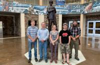 Glenville State College Department of Land Resources students who are also members of the College's Honors Program; (l-r) Asa Dick, Eli Henthorn, Katlyne Rollyson, Jared Bishop, and Jacob Amick