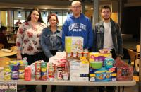 Glenville State College students who assisted with the Hidden Promise Scholars and Heart of the CommUnity Food Drive for the Pioneer Pantry included (l-r) Stormie Alverson, Brigitte Ellison, Tyler Moore, and Trey Waycaster