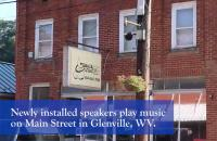 As part of a $10,000 grant from the West Virginia Humanities Council through the CARES Act, GSC's Pioneer Stage has recently added new speakers along Main Street in Downtown Glenville