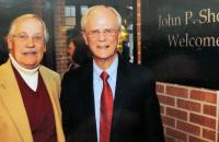 Bill Talbott (left) and Dr. John P. Shock, Jr. have established a scholarship at Glenville State College to benefit students from Webster County.