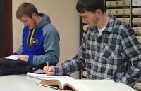 Glenville State College students conduct courthouse research as part of a Land Titles and Abstracting course