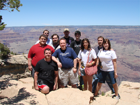 Tuba and Euphonium Ensemble visited the Grand Canyon
